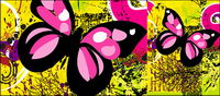 Butterfly and the black sheep vector material