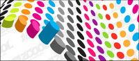 Cil¨ªndricas de color en tres dimensiones del vector de material