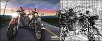 ai rendu r��aliste des propri��taires de Harley vecteur mat��riel