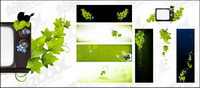 Green butterfly TV Vektor Material