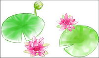 Aquarell-Stil Lotus