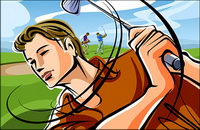 Fashion illustration - le golf, les hommes