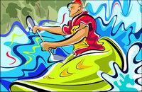 Pintados a mano las cifras ilustraciones (Movimiento canoa)
