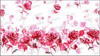 Peint �� la main des roses