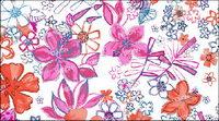 Psd moda pintada a mano con motivos florales en capas de material