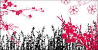 Fashion Blumen, Muster, Spitzen-Serie