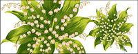 Von Hand bemalt Blumen Materials psd-9