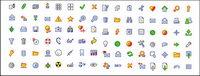 Diseño web com¨²nmente usado icono de estilo de dibujos animados