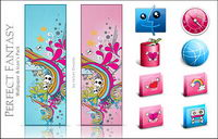 Perfect Fantasy style cute tendance + ordinateur + icône png ico + wallpaper Tablet PC
