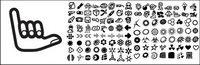 120 ��l��ments de la tendance icône ��l��ment du vecteur