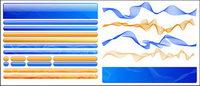 Web-Design Material - Tasten, Navigation, Diwen
