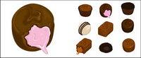 Chocolat vecteur mat��riel