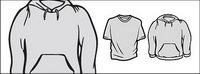 La tendance des manches longues T-shirt mat��riel vecteur