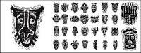 M¨¢scaras tribales africanos material gr¨¢fico vectorial