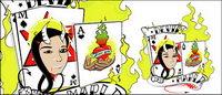 Poker mit dem Element Feuer