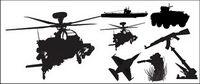 Fotos de vectores de armas de material militar