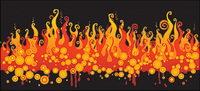 Vector de material contra incendios