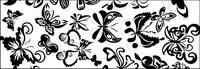 Schwarz-Weiß-Element Schmetterling Vektor
