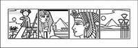 Egypte 4 grille de dessin vectoriel carte