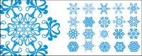 Nombre de flocons de neige exquis Vector