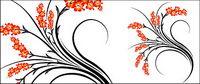 Fashion Flower vecteur mat��riel