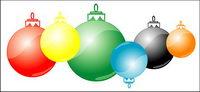 Bola de vectores de Navidad