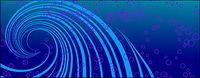 Punkte und Linien dynamische Vektor-Material
