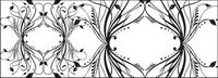 Mode noir et blanc mod��le vecteur ��l��ment mat��riel