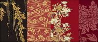 Vector traditionellen Bild-Serie 1-Pflanzen-Blumen
