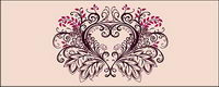Fashion heart-shaped lace vector
