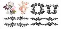 Praktische Spitze Muster Vektor Material-2