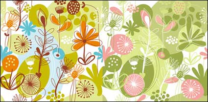 Link toLovely flowers and plant material vector