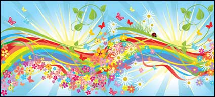 Link toColorful flower in the world vector material