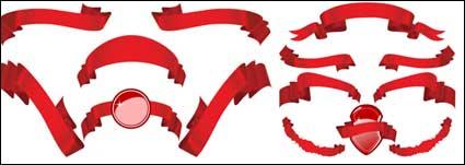 Link toSeveral red ribbon ribbon vector material