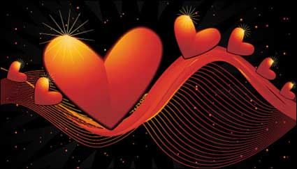 Link toHeart-shaped vector material -2 dynamic lines of the background