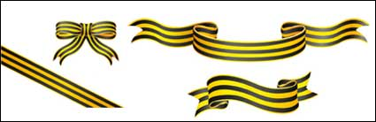 Link toYellow striped ribbon vector material
