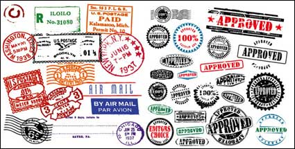 Link toForeign stamp postmark vector material