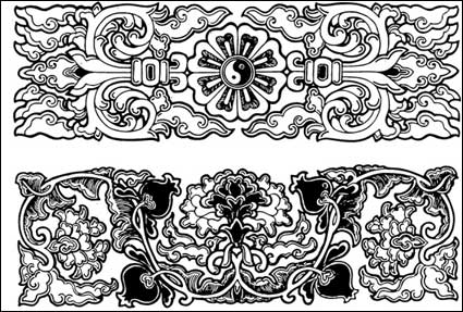 Link toChinese classical vector of the material 23