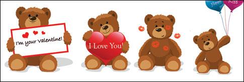 Link toLove teddy bear vector material
