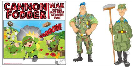 Link toCartoon soldier vector