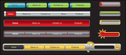 Link toWeb design navigation menu vector material