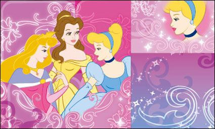 Link toSnow white and the pattern vector material -1