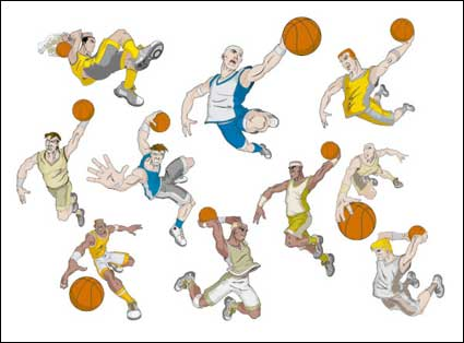 Link toBasketball cartoon character vector material