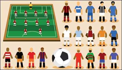 Link toCartoon football vector material