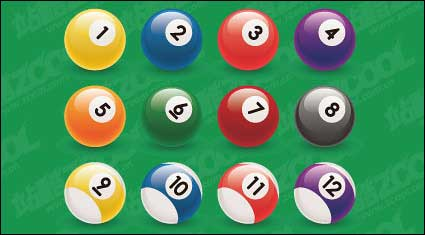 Link toBilliard ball number vector material