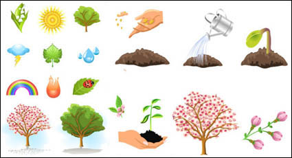 Link toPlant trees vector material