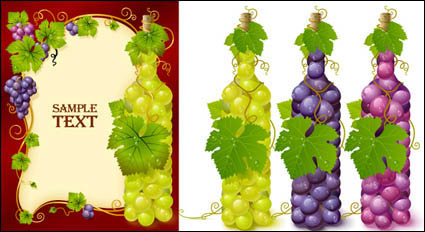 Link toBottles filled with grape vector material