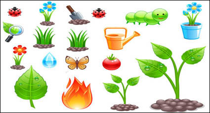 Link toPlanting theme vector material