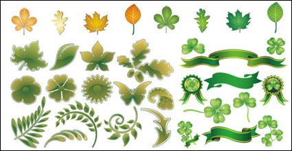 Vector material leaves theme