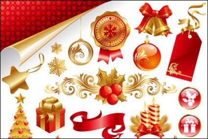 Link toBeautiful christmas material late vector